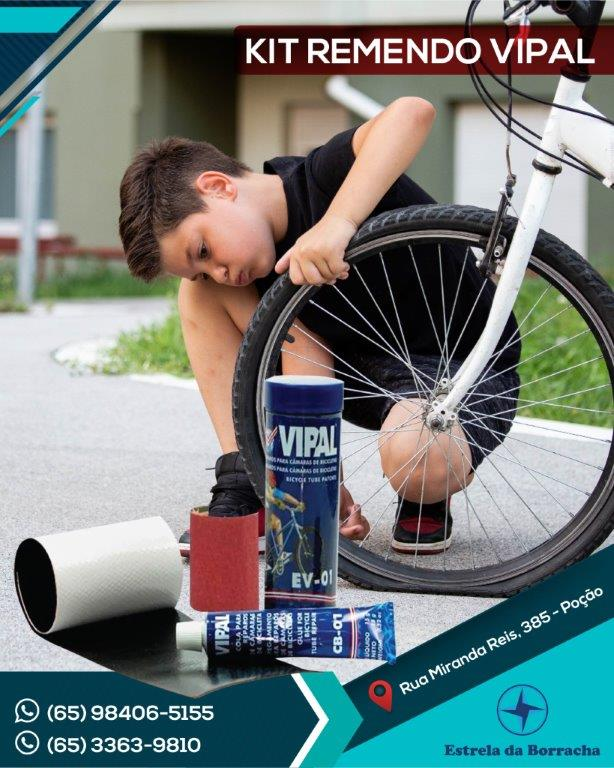 Kit Remendo Reparo Camara De Ar Bike Vipal