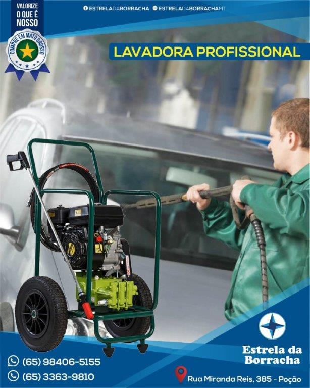 LAVADORA JHF 4X MB MÓVEL C/ MOTOR 2CV GASOLINA